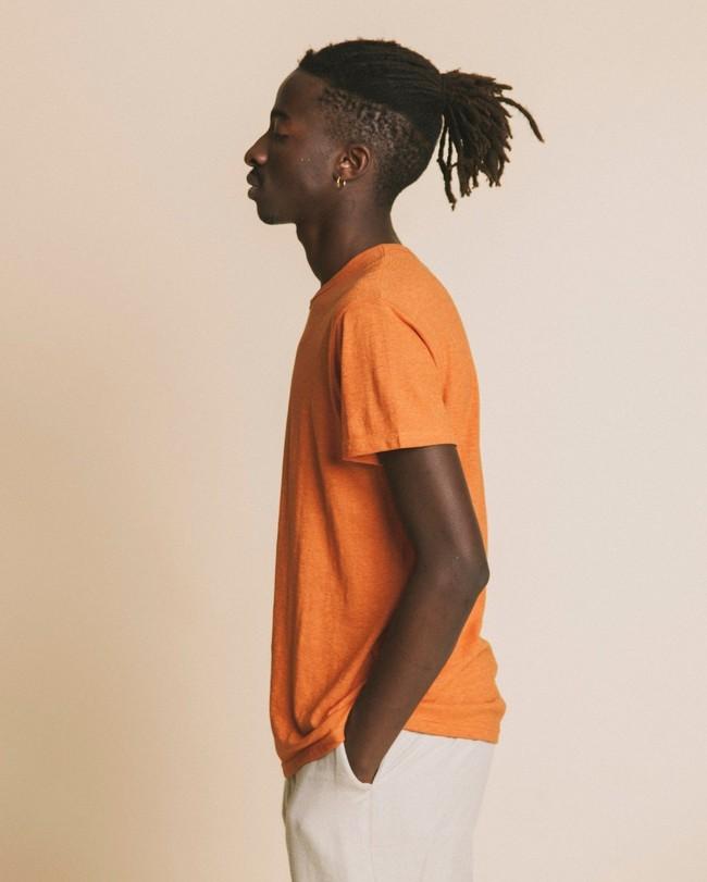 T-shirt terracotta en chanvre et coton bio - Thinking Mu num 2