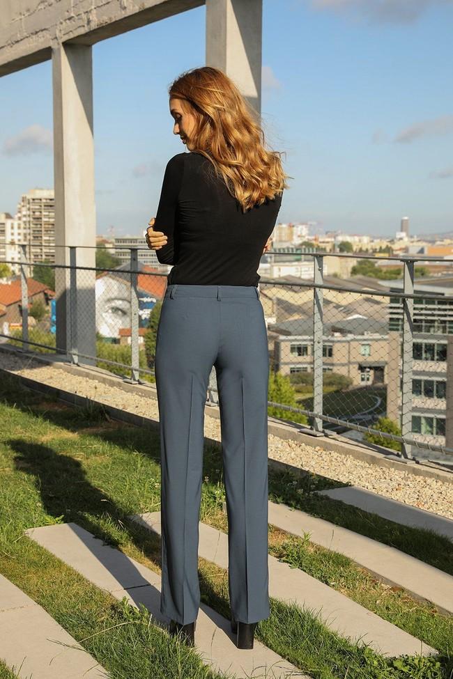 Pantalon tailleur berlin pétrole - 17h10 num 2