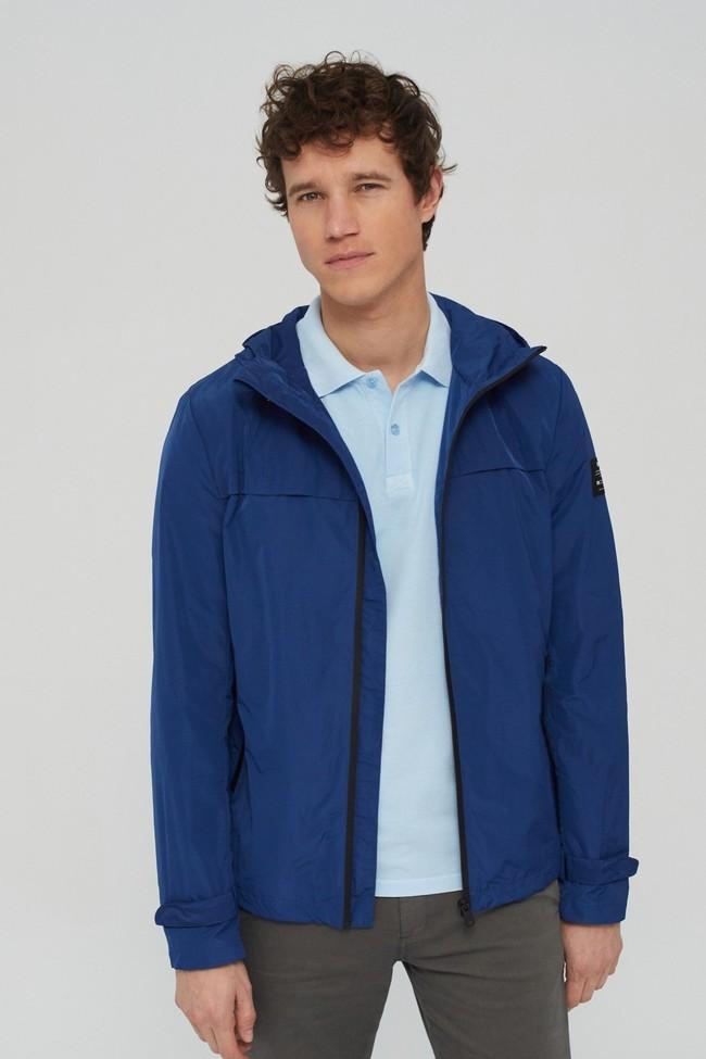 Veste déperlante bleue en polyester recyclé et sorona - dalven nautic - Ecoalf num 2