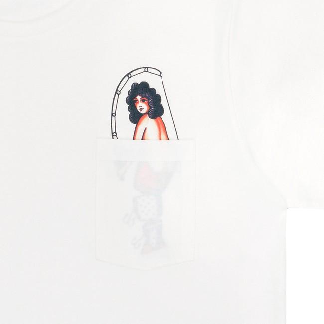 T-shirt en coton bio natural hook pocket - Bask in the Sun num 2