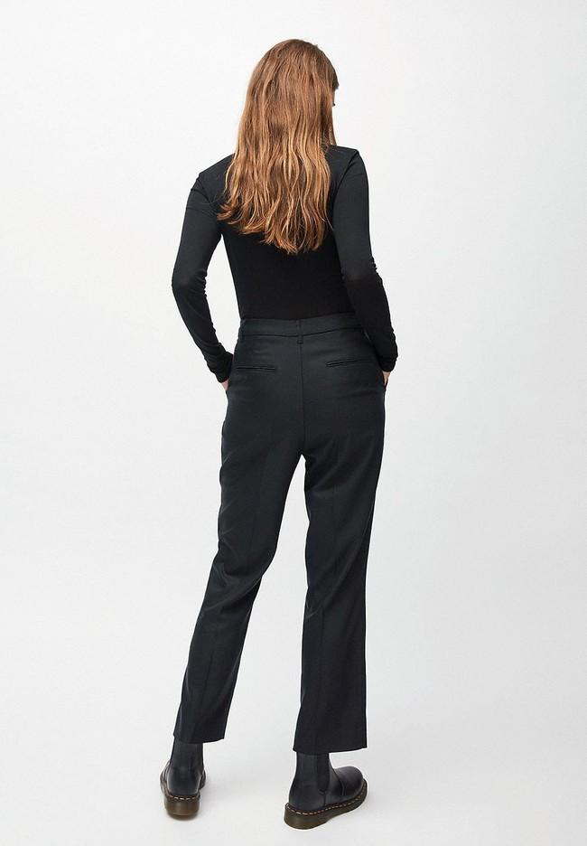 Pantalon à pinces noir en tencel - herttaa - Armedangels num 2