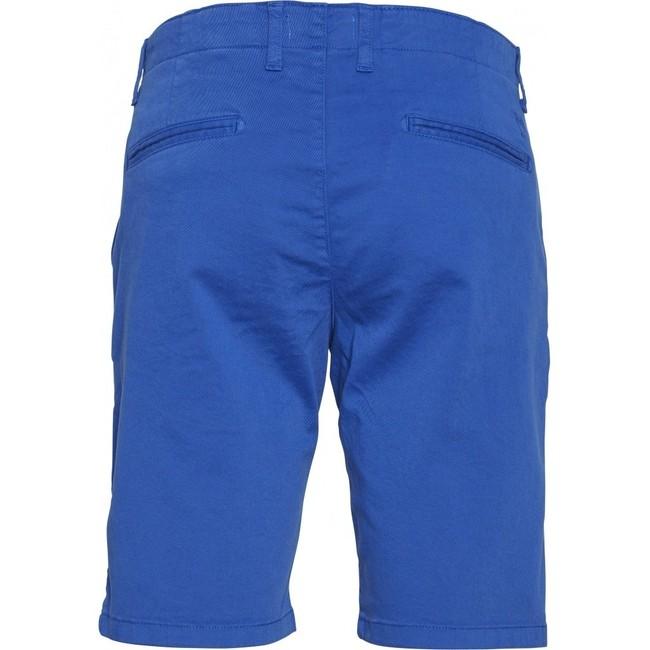 Short chino droit bleu en coton bio - chuck - Knowledge Cotton Apparel num 1