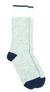 Chaussettes thalweg - laine bleu & gris clair - Maison Izard - 1
