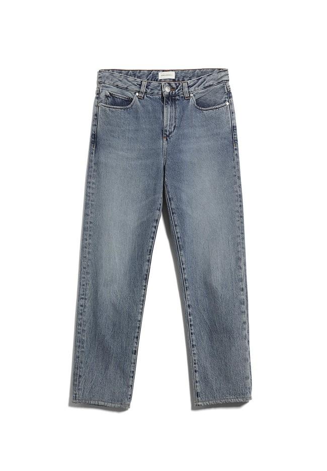 Jean coupe droite bleu clair en coton bio - fjellaa cropped light vintage - Armedangels num 5