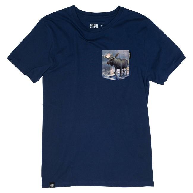 T-shirt poche imprimée en coton bio - Dedicated num 4
