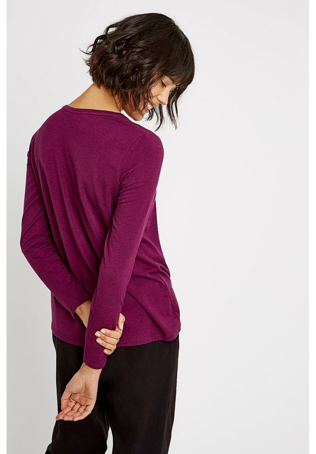 T-shirt manches longues violet - amara top - People Tree num 2