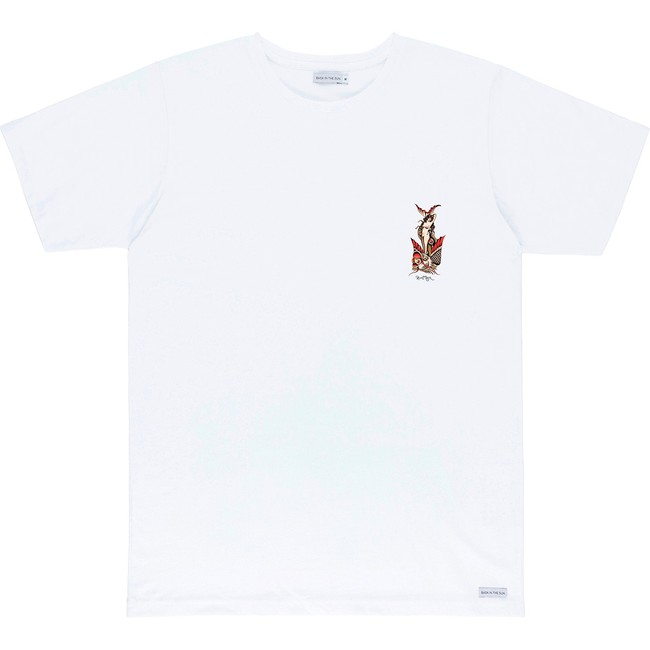 T-shirt en coton bio white mermaid - Bask in the Sun