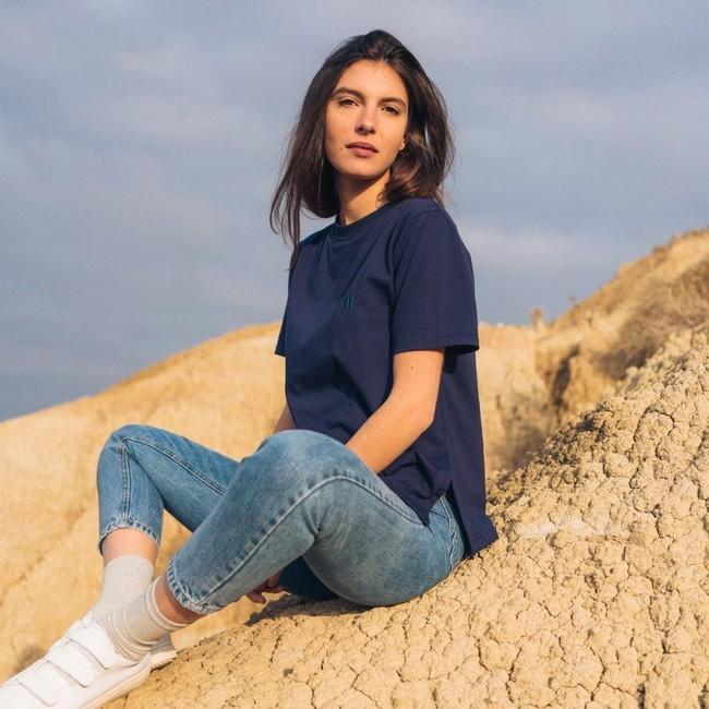 T-shirt recyclé - classique navy - Hopaal num 1
