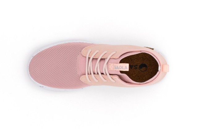 Chaussures recyclées semnoz ii femme rose gold - Saola num 3