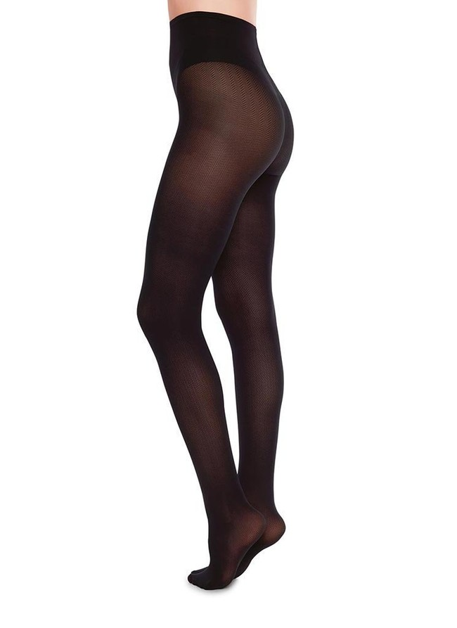 Collants à motifs 40 deniers noirs recyclés - nina - Swedish Stockings