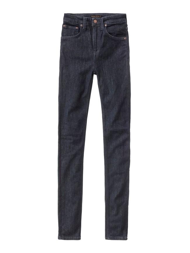 Jean skinny taille haute brut en coton bio - hightop tilde dark navy - Nudie Jeans num 5
