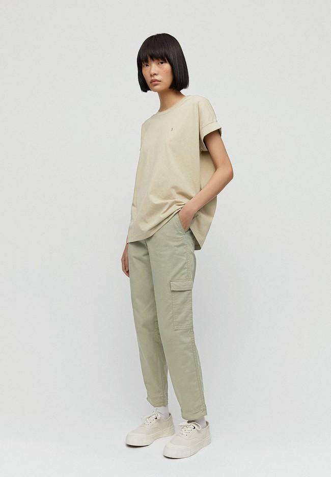 Pantalon cargo vert pâle en coton bio - virginiaa - Armedangels
