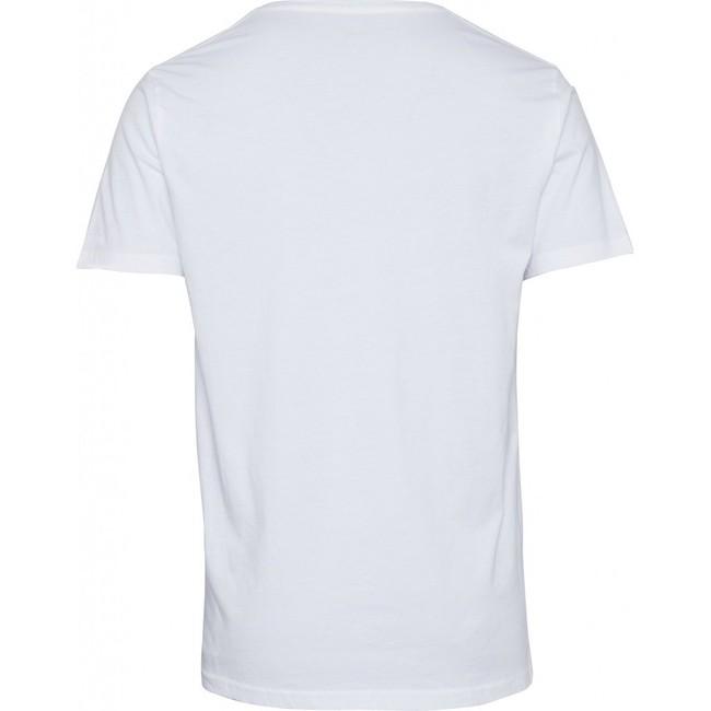 T-shirt col v blanc en coton bio - alder - Knowledge Cotton Apparel num 1