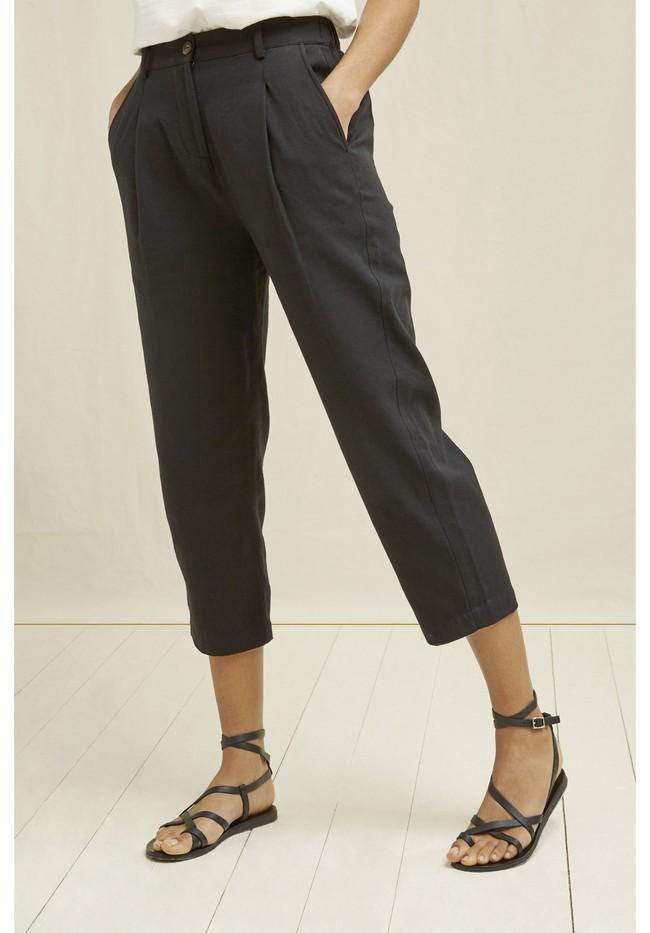Pantalon droit noir en coton bio - anwen - People Tree