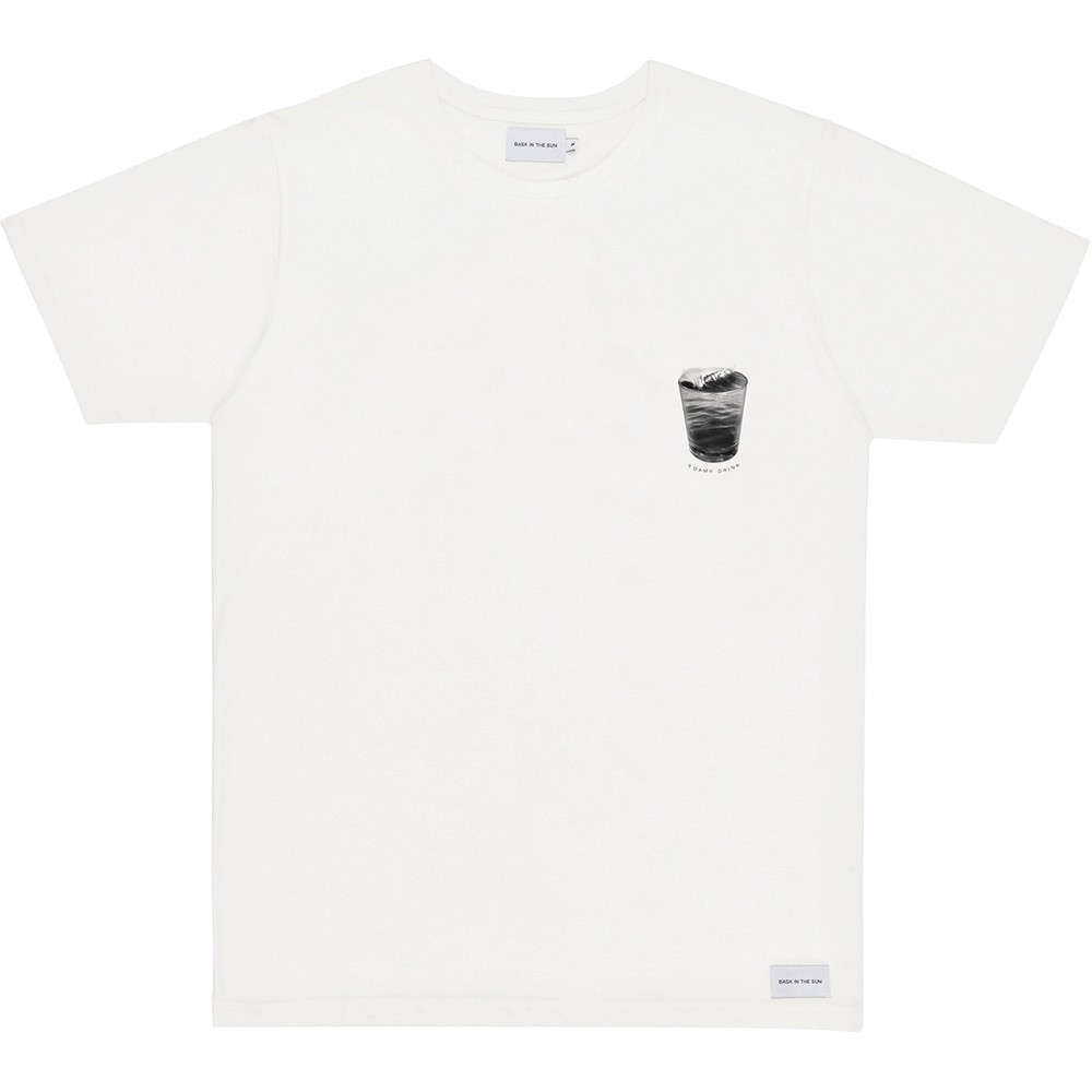 T-shirt en coton bio natural foamy drink - Bask in the Sun