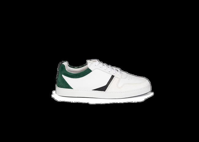 Chaussure en glencoe cuir blanc / suède sapin - Oth num 3