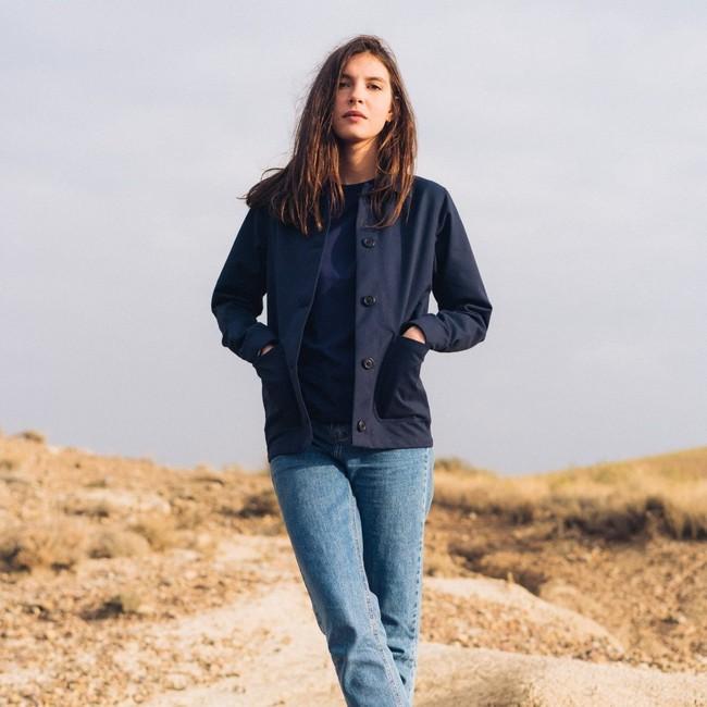 Veste recyclée - la veste bleue - Hopaal num 1