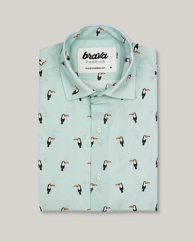 Tropical tucan printed shirt - Brava Fabrics num 1