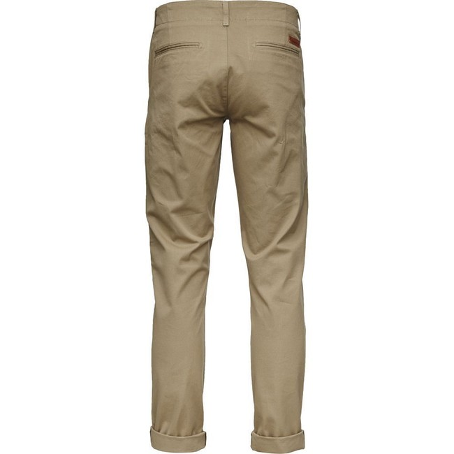 Chino beige en coton bio - chuck - Knowledge Cotton Apparel num 1