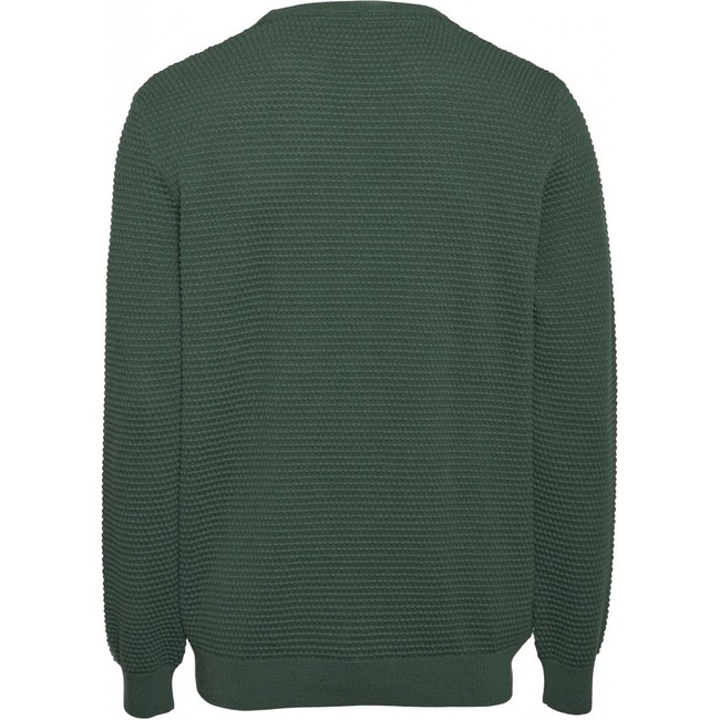 Pull vert forêt en coton bio - field - Knowledge Cotton Apparel num 1