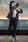 Pantalon tailleur casablanca navy - 17h10 - 3
