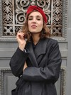Bandeau cheveux velours rouge - Les Récupérables - 2