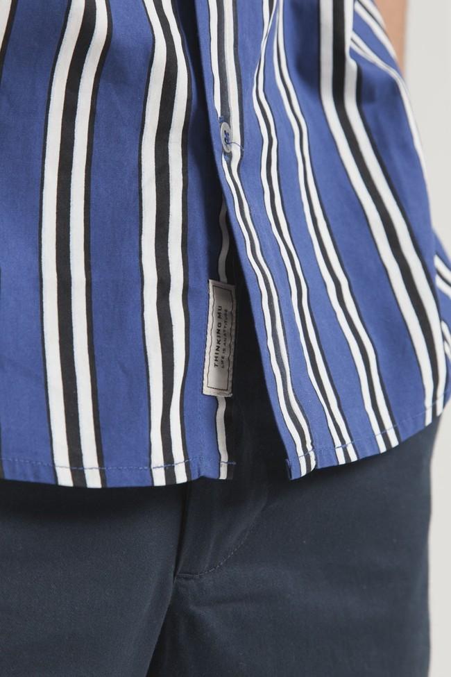 Chemise manches courtes rayée en coton bio - tom - Thinking Mu num 4
