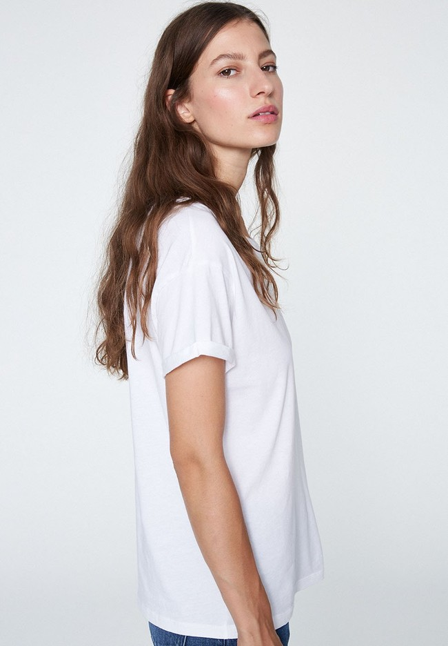 T-shirt blanc coton bio - naalin - Armedangels num 1