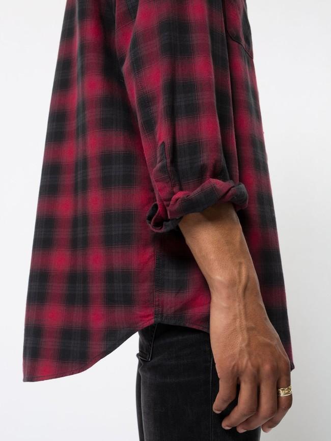 Chemise à carreaux rouge et noir - gabriel - Nudie Jeans num 5