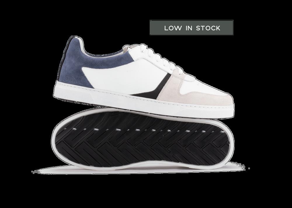 Chaussure en glencoe cuir blanc / suède bluette - Oth