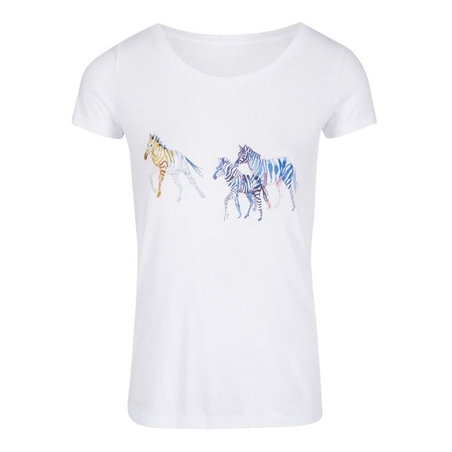 T-shirt motif zèbre - Bleu Tango num 4