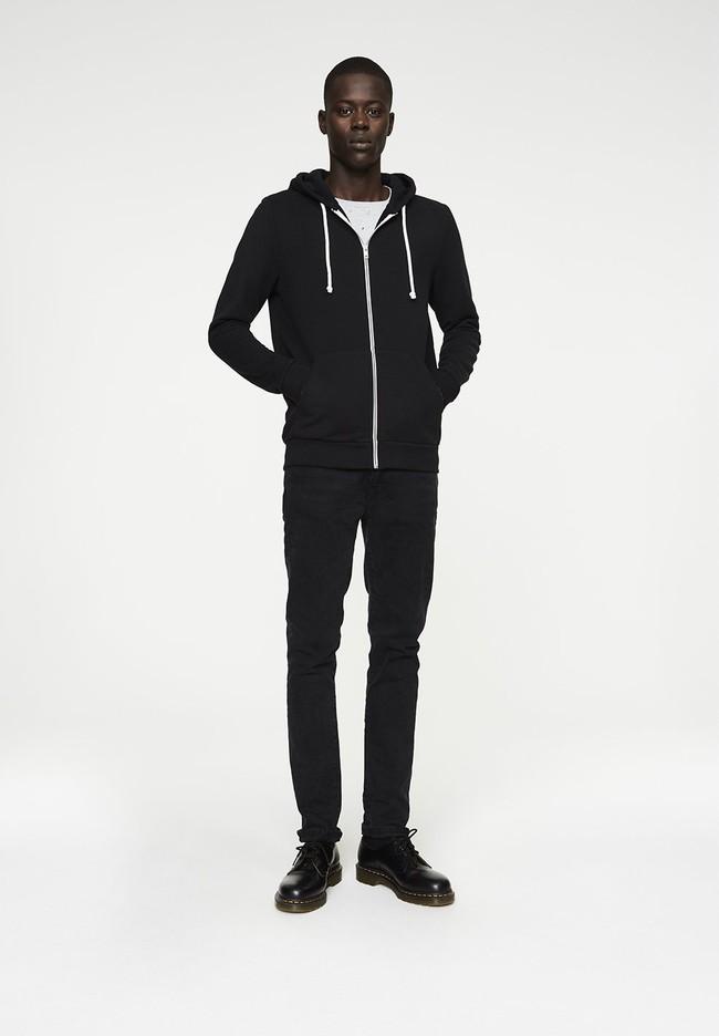 Veste zippée noire en coton bio et polyester recyclé - joaa - Armedangels num 3