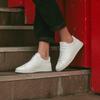 Chaussure en graviere cuir recyclé blanc - O.T.A - 6