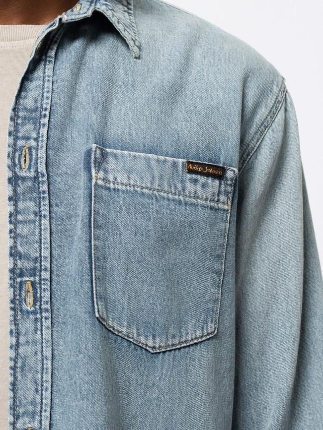 Chemise jean en coton bio - albert - Nudie Jeans num 4