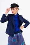 """Veste """"la redoutable"""" en coton upcyclé bleu marine - Bleu Tango - 3"""