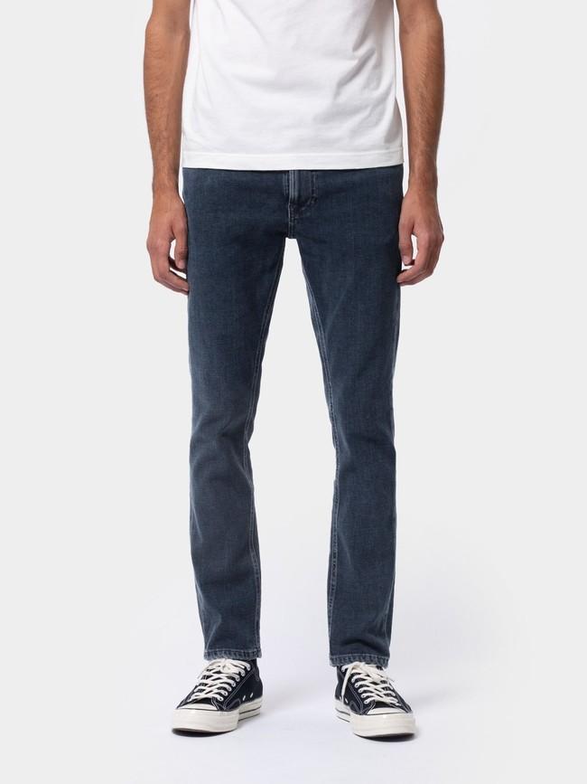 Jean slim bleu foncé en coton bio - lean dean blue dream - Nudie Jeans