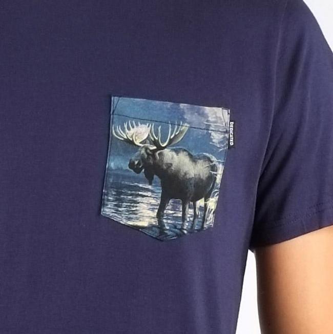 T-shirt poche imprimée en coton bio - Dedicated num 1