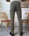 Pantalon droit 5 poches homme zanzibar, tencel et coton récyclé kaki - Aatise - 3