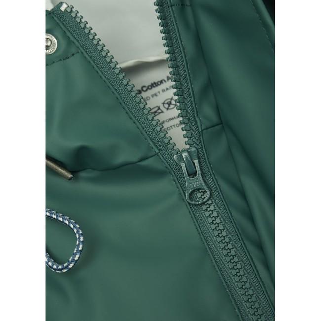 Imperméable vert en polyester recyclé - Knowledge Cotton Apparel num 1