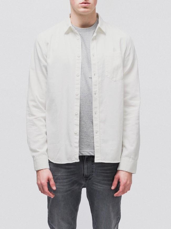 Chemise blanche en coton bio - henry - Nudie Jeans