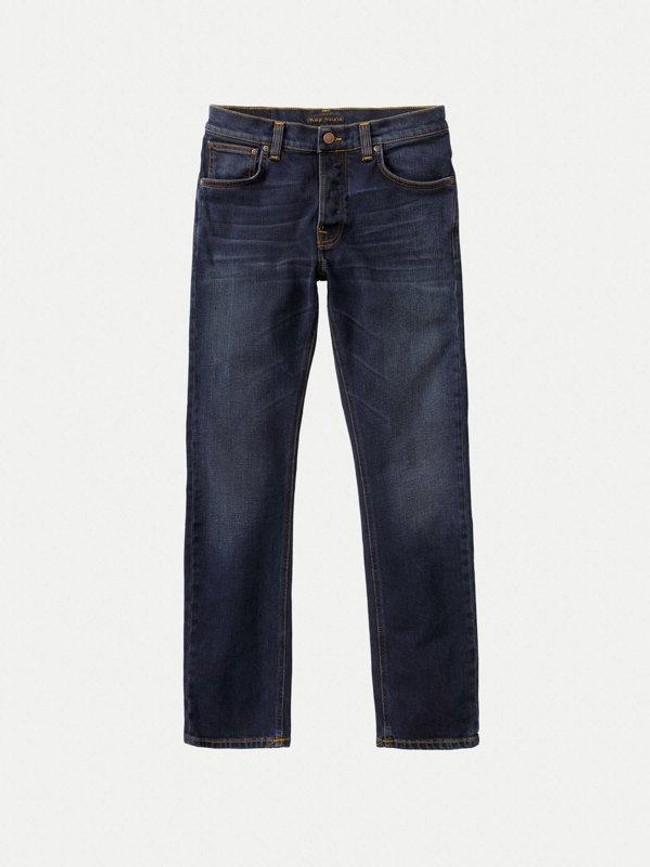 Jean droit bleu foncé en coton bio - grim tim ink navy - Nudie Jeans num 4