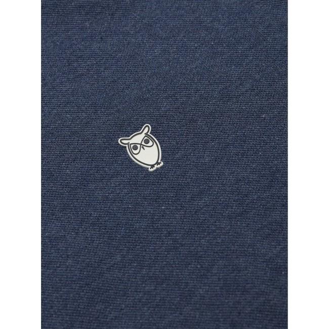 Polo bleu marine en coton bio - pique polo - Knowledge Cotton Apparel num 3