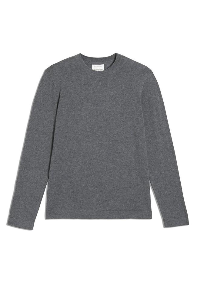 Pull gris en coton bio - laado - Armedangels num 4