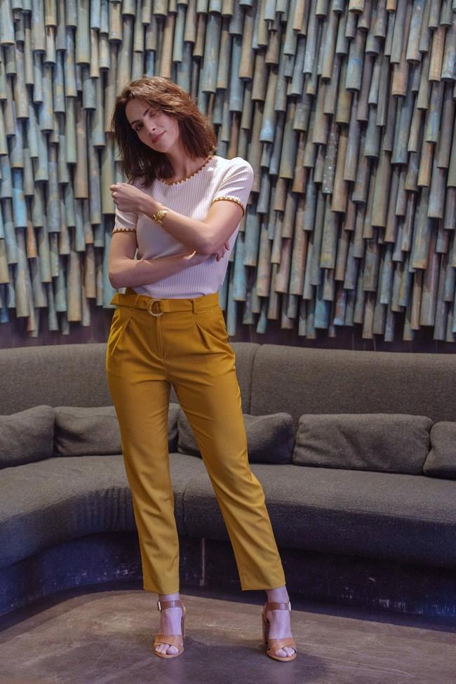 Pantalon tailleur casablanca jaune safran - 17h10 num 4