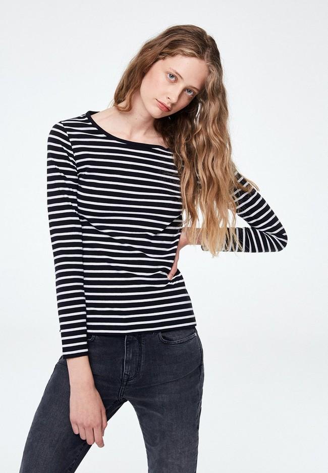 T-shirt manches longues rayé - valentina stripes - Armedangels
