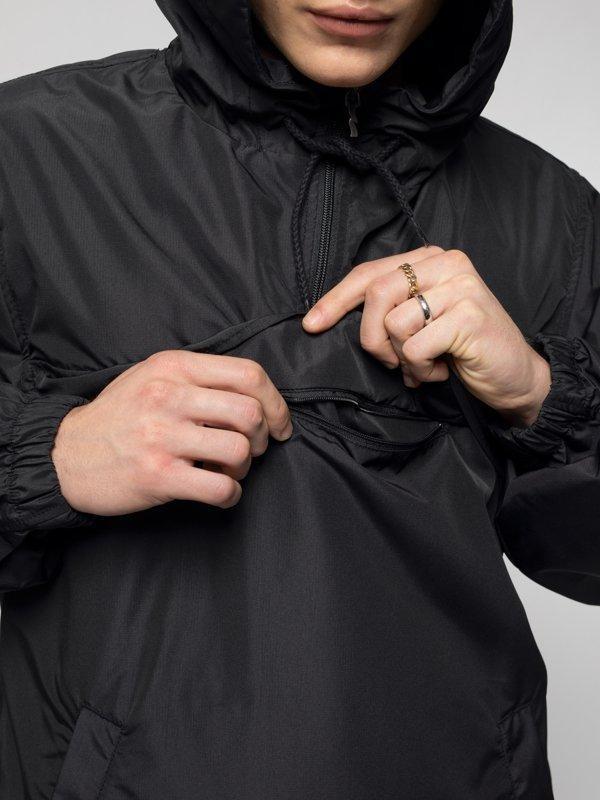 Anorak pull over noir en matières recyclées - buster - Nudie Jeans num 4