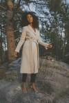 Manteau emma beige en laine - Maison People - 3