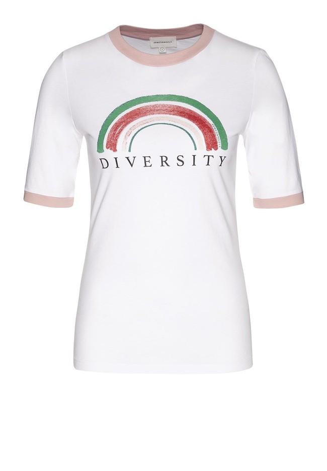 T-shirt imprimé blanc en coton bio - emmaa diversity - Armedangels num 3