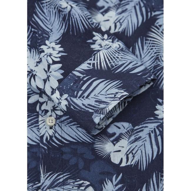 Chemise palmiers en coton bio et lin - Knowledge Cotton Apparel num 2