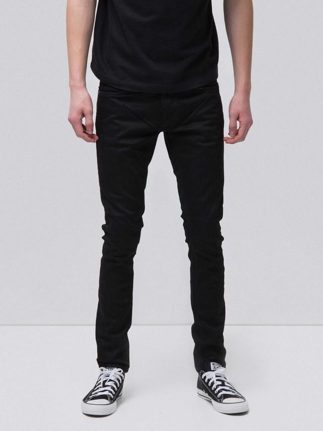 Jean skinny noir coton bio - tight terry deep black - Nudie Jeans